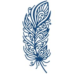 Tattered Lace Metal Die - Decorative Feather