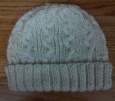 Cables Folding Rib Unisex Knitting Hat by LaBufandaLLC $17.00
