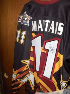 d6a48e91ea52dd 2001 IHL all star game Steve Maltais autographed jersey Chicago Wolves AHL  NHL