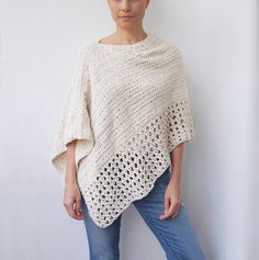 Easy Free Crochet Poncho Patterns Ideas for Women Crochet Projects 2019 - Page 30 of 34 - hairstylesofwomens. com patterns for women Easy Free Crochet Poncho Patterns Ideas for Women Crochet Projects 2019 - Page 30 of 34 - hairstylesofwomens. Crochet Amigurumi, Knit Crochet, Crochet Woman, Crochet Tops, Easy Crochet Shawl, Crochet Vests, Crochet Blouse, Crochet Scarves, Crochet Clothes