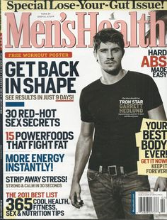 Mens Health magazine Garrett Hedlund Workouts Powerfoods Instant energy Fitness