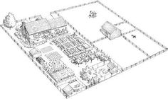 Homestead Plan For 1/2 An Acre. 12 garden beds, fruit & nut trees, herbs, chickens, dairy goats, bee hives... - rugged-life.com