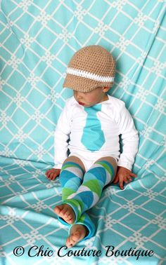 baby boy leg warmers | Baby Boy Easter Tie Onesie and Leg Warmers / Leggings SET. Any Tie on ...