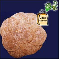 1kg Bobbatlu (15 pieces) -  A special sweet prepared for Ugadi Festival + Special Ugadi Hamper (1 Big Green Mango + Cheruku Mukkalu + Vaepa Puvvu + Bellam Mukkalu)
