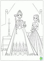 Frozen coloring pages, coloring Frozen, Disney's Frozen coloring pages- DinoKids.org