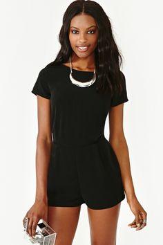 Night Heat Romper.. Love all black!