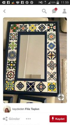 Islamic Art Pattern, Pattern Art, Tiled Mirror, Pottery Handbuilding, Ethnic Home Decor, Tile Crafts, Stained Glass Crafts, Madhubani Painting, Tile Art