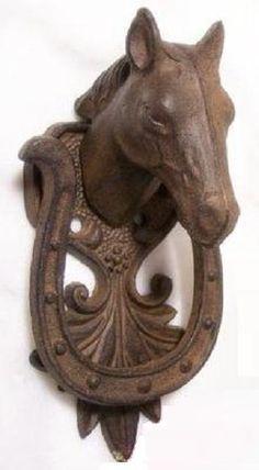 Door knockers chimes door bells music boxes old - Horse door knocker ...