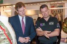 The Prince looking at the new Row 2 Recovery display in the Rowing Gallery