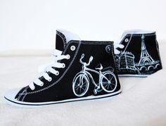 Paris und Fahrrad von Puba28 auf DaWanda.com