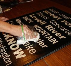 DIY Subway signs