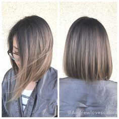Beige Babylights and balayage. Cut and color by Beige Babylights and balayage. Haircuts For Medium Length Hair, Medium Hair Cuts, Short Hair Cuts, Medium Hair Styles, Curly Hair Styles, Short Straight Haircut, Straight Hairstyles, Hairstyles 2016, Straight Bob