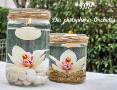 idee decoration mariage les photophores orchidee Wedding decoration idea: the orchid tealight - Wedding Centerpieces, Wedding Table, Diy Wedding, Wedding Decorations, Table Decorations, My Perfect Wedding, Centre Pieces, Luxury Wedding, Glamorous Wedding