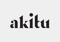 Inhouse | Akitu Akitu (apex/summit/success) is a winery from a high glacial valley in the South Island of New Zealand. The Akitu wordmark is a typographic expression of the extreme land that shapes an exquisite Pinot noir. A strong diagonal edge between the 'k-i-t' letterforms creates an edge that is suggestive of both a mountain-side and the sloping terrain of the property itself. The custom wordmark is anchored to the base of the bottle and finished with a high build varnish.
