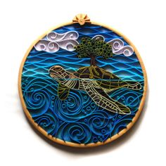 Creation Story by Beth Petricoin   (082513)  [surprise! uses polymer clay to mimic quilled paper artwork]