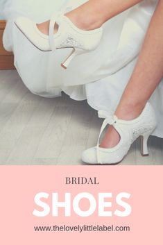 SHOP NOW Bridal Shoes to suit every style from The Lovely Little Label we've got low heel wedding shoes high heel wedding shoes wedges kittens heels - something for every bride. Free Delivery on all o Wedge Wedding Shoes, Wedding Shoes Bride, Bride Shoes, Lace Wedding, Wedding Decor, Wedding Dresses, Shoes Heels Wedges, Low Heels, High Heel