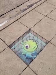 Image result for 3d sidewalk chalk art easy