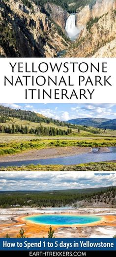 Yellowstone National Park Itinerary: Suggestions for and 5 days. Plan your perfect trip to Yellowstone National Park with these itinerary suggestions from one to five days. Us National Parks, Grand Teton National Park, Yellowstone National Park, Travel Usa, Travel Tips, Canada Travel, Travel Hacks, Travel Packing, Visit Yellowstone