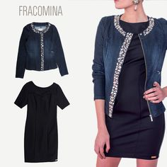 New season, new looks: Add a touch of glamour to your Fall with #Fracomina #Jacket>http://goo.gl/ncyF6h #Dress>http://goo.gl/XcrR9A