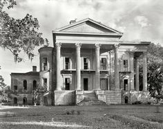 The abandoned Belle Grove mansion in White Castle, LA. These photos were taken in 1938, years after its abandonment. When it was built in 1857 it was the largest mansion in the south and comprised of more than 75 rooms. It has since burned to the ground.