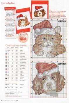 Gallery.ru / Фото #32 - Cross Stitch Collection 176 ноябрь 2009 - tymannost Cat Christmas Stocking, Cross Stitch Christmas Stockings, Xmas Cross Stitch, Cross Stitch Cards, Cross Stitch Animals, Cross Stitch Kits, Christmas Cats, Cross Stitch Designs, Cross Stitching