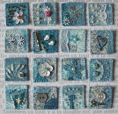 Crazy quilt inches - try with denim base