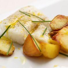 Krokante aardappeltjes met kabeljauw