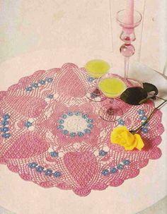 "Patrón #378: Centro de mesa ""Nomeolvides"" a Crochet #ctejidas http://blgs.co/Xb4puP"
