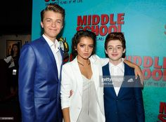 Actors Jacob Hopkins, Isabela Moner and Thomas Barbusca attend the Los Angeles red carpet screening of 'Middle School: The Worst Years Of My Life' at TCL Chinese Theatre on October 5, 2016 in Hollywood, California.