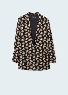 Floral print blazer | MANGO