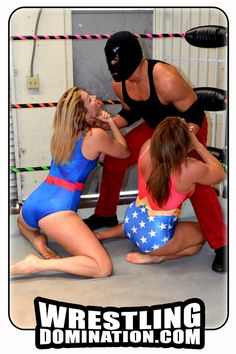 "Women Defeated - ""Ashley Wildcat and Jennifer Thomas VS The Masked Man"" from Wrestling Domination"