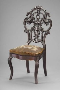 1850 British Side chair at the Museum of Fine Arts, Boston - This is an example of the Rococo Revival style.