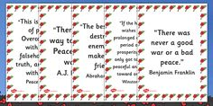 A handy set of display posters featuring key peace quotes. Peace Art, Peace Quotes, Display, How To Make, Posters, Floor Space, Billboard, Poster, Postres