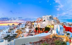 A perfect day full of popping, vibrant colors over Santorini, one of the T+L readers' favorite island destinations in the world. We can see why!