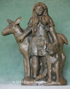 Flidais       Protectress of the Forest    An Irish Celtic forest goddess, protectress of wild places and the animals that dwell therein, Flidais in the ancient tales is portrayed as riding in a chariot drawn by wild stags. As goddess of animals and the hunt she is sometimes compared to the Roman Diana and the Greek Artemis.