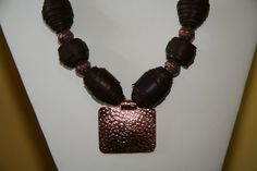 Leather beads necklace by Beauje on Etsy, $95.00