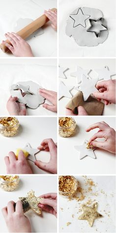 Gathering Beauty | Make your own Diy Gold Clay Star Decorations