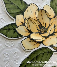 Stamp Me Crafty | Terri George, Independent Stampin' Up! Demonstrator Crafty Projects, Projects To Try, Tin Tiles, Magnolia Stamps, Magic Cards, Black Magic, Flower Cards, Paper Design, Three Dimensional
