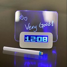 Quality Digital Alarm Clock LED Despertador Fluorescent with Message Board USB 4 Port Hub Desk Table Clock With Calendar Blue For home with free worldwide shipping on AliExpress Mobile Usb Hub, Led Bleu, Led Alarm Clock, Led Fluorescent, Blue Led Lights, Desk Clock, Clock Table, Bedside Clock, Message Board