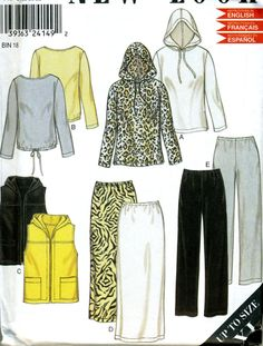 Misses Size 6 8 10 12 14 16 18 20 22 24 Separates Sewing Pattern New Look 6011