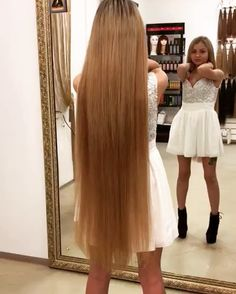 Beautiful Long Hair, Gorgeous Hair, Pretty Hairstyles, Straight Hairstyles, Long Blond, Rapunzel Hair, Long Hair Video, Natural Hair Styles, Long Hair Styles