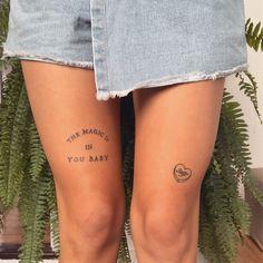 Tiny Tattoos For Girls, Little Tattoos, Tattoos For Women, Word Tattoos, Mini Tattoos, Leg Tattoos, Tatoos, Dream Tattoos, Future Tattoos