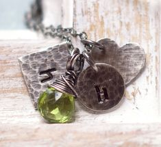 Mothers Necklace Personalized Charm Necklace by jemmijewelry