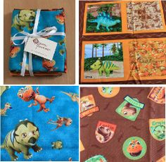 Dinosaur train fabric from craft gossip 4th Birthday Parties, Birthday Ideas, Dinosaur Train Party, Brag Book, Big Kids, Gossip, Kid Stuff, Giveaway, Quilting