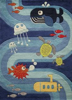 Momeni Rugs Area Rug Lil Mo Collection LMJ21 Blue