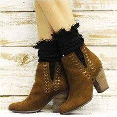 socks for booties - black socks ankle boots - black bootie socks