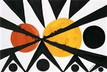 Across the Orange Moons - Alexander Calder - 1967 - Abstraction