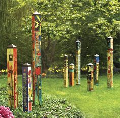 This would be fun for Playhouse posts-  Art Poles :: GARDEN :: Home
