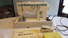 Necchi 534FB Sewing Machine with Case Manual Watch Demo Video #Necchi