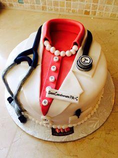Medical graduation cake